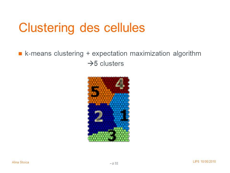 Clustering des cellules