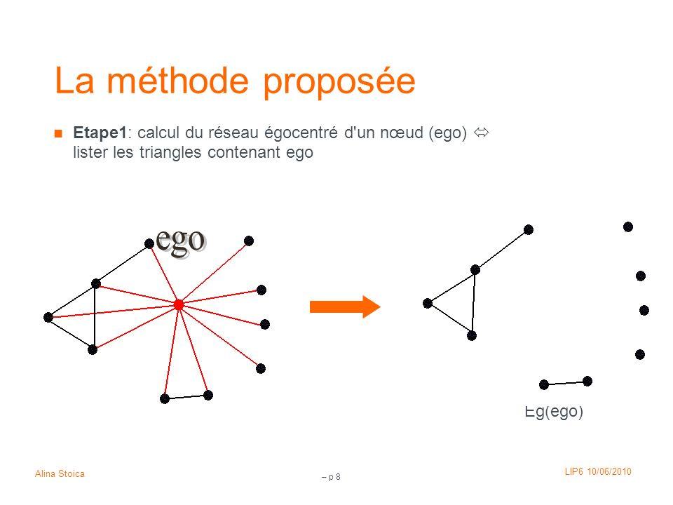 La méthode proposée ego