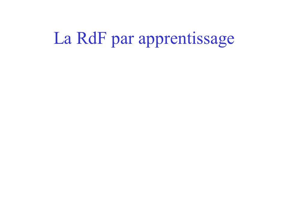 La RdF par apprentissage