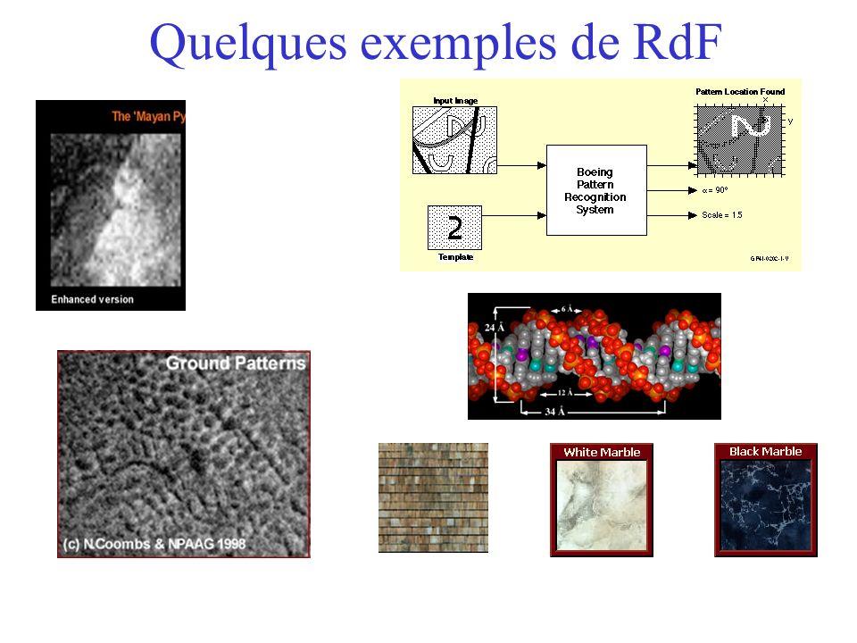 Quelques exemples de RdF