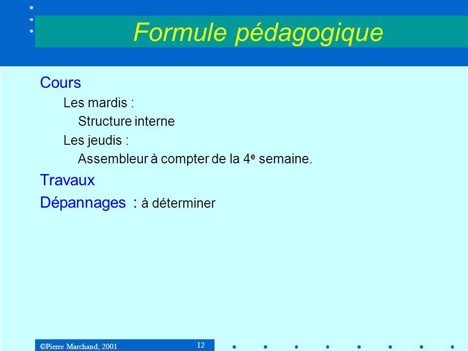 Formule pédagogique Cours Travaux Dépannages : à déterminer