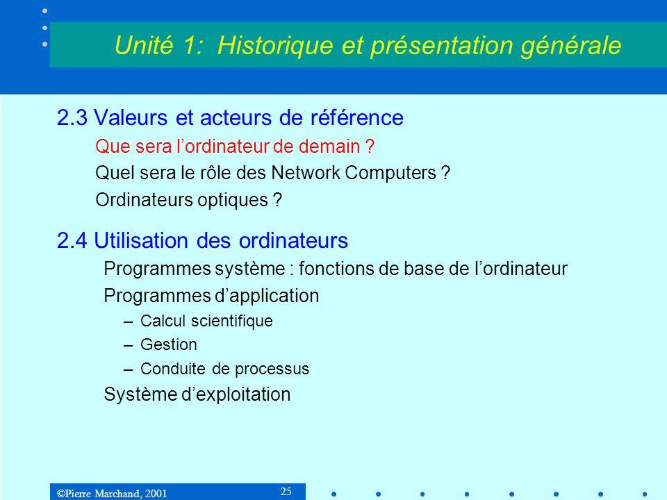 Unité 1: Historique et présentation générale