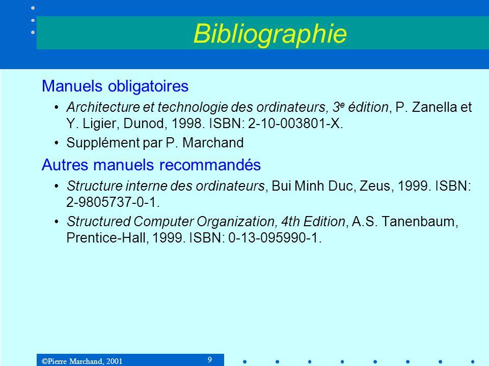 Bibliographie Manuels obligatoires Autres manuels recommandés