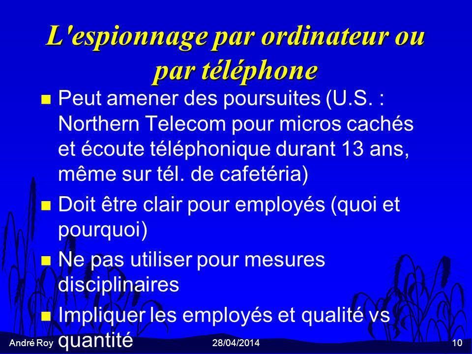 L espionnage par ordinateur ou par téléphone