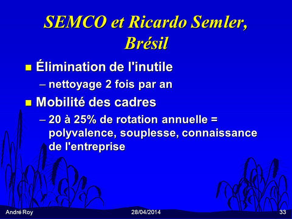 SEMCO et Ricardo Semler, Brésil
