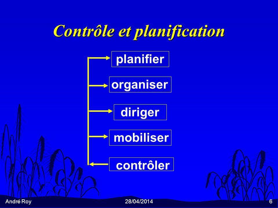 Contrôle et planification