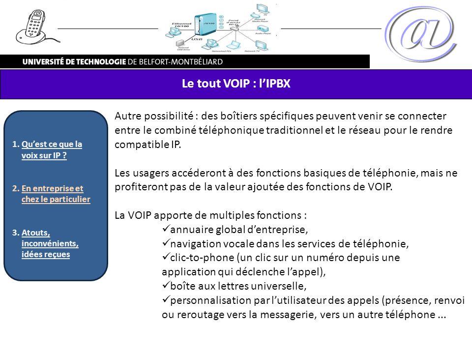 Le tout VOIP : l'IPBX