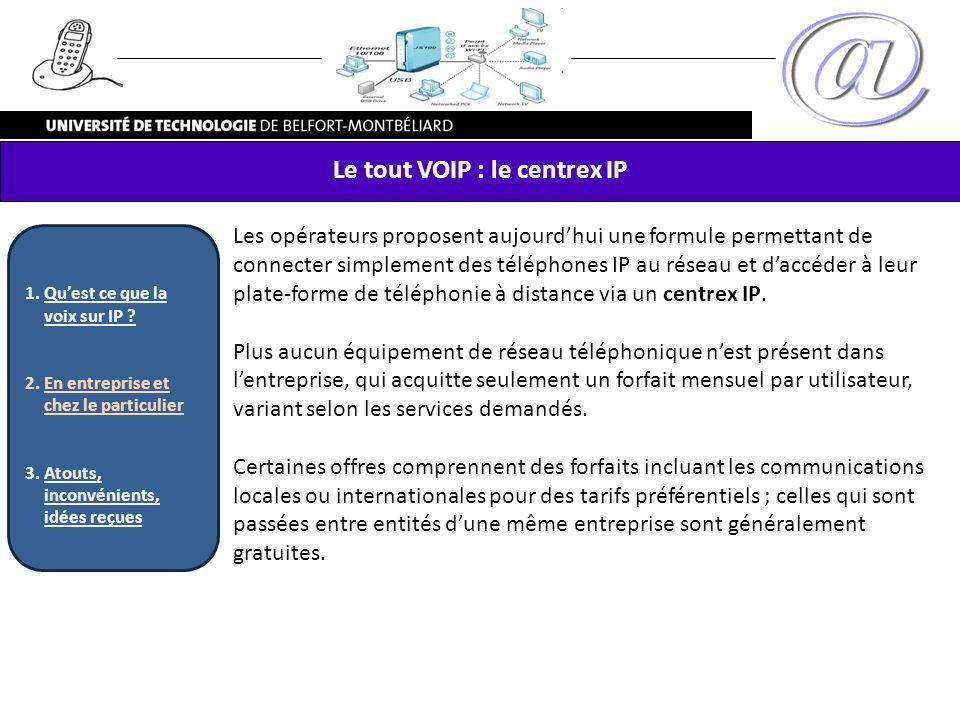 Le tout VOIP : le centrex IP