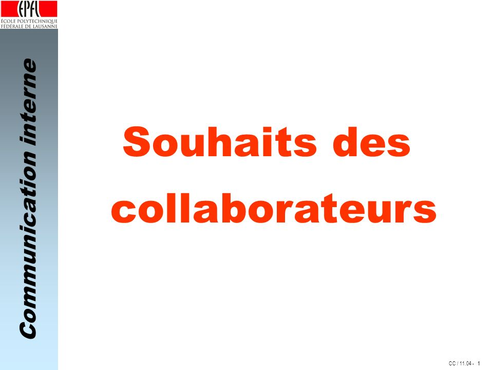 Souhaits des collaborateurs 1