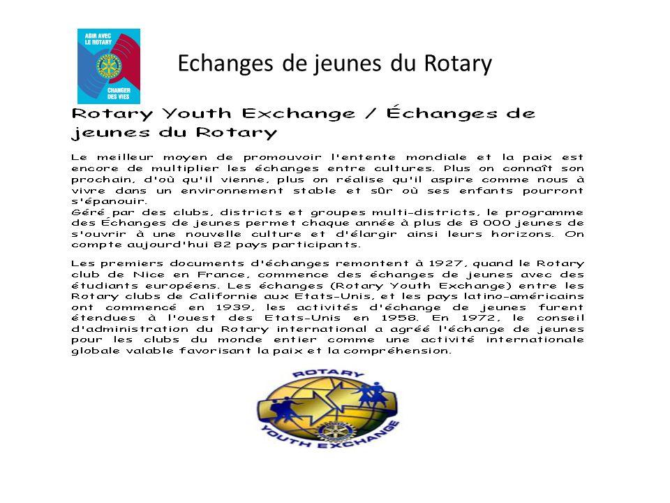 Echanges de jeunes du Rotary