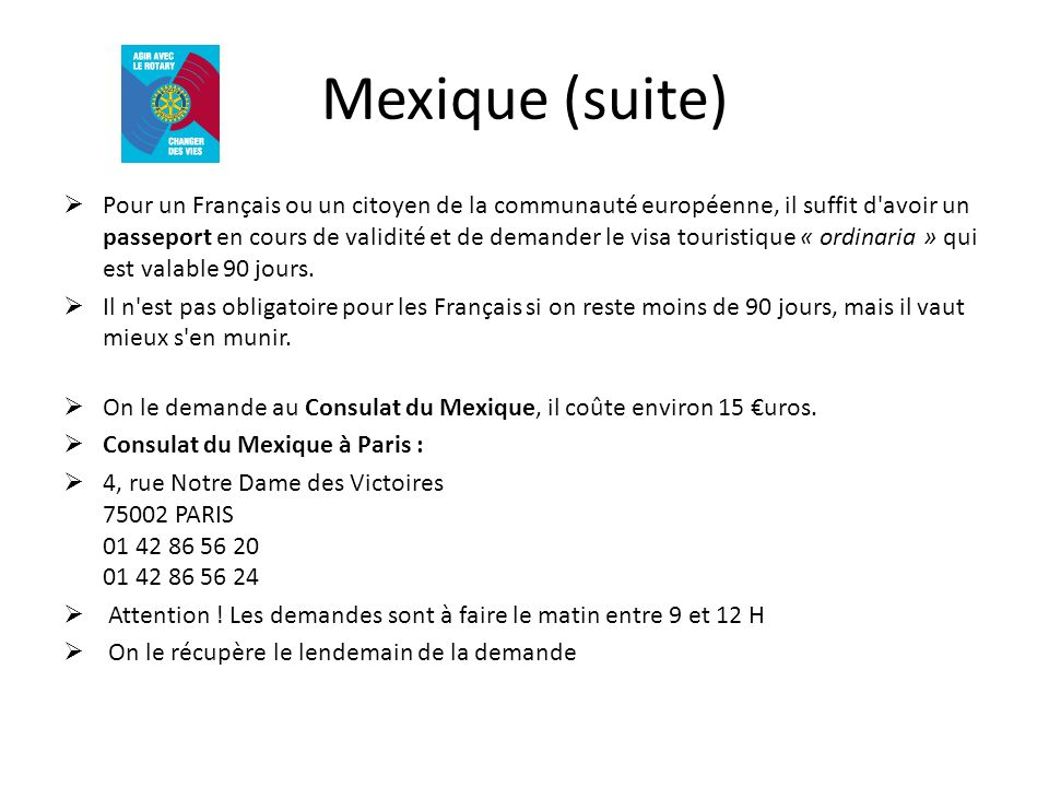 Mexique (suite)