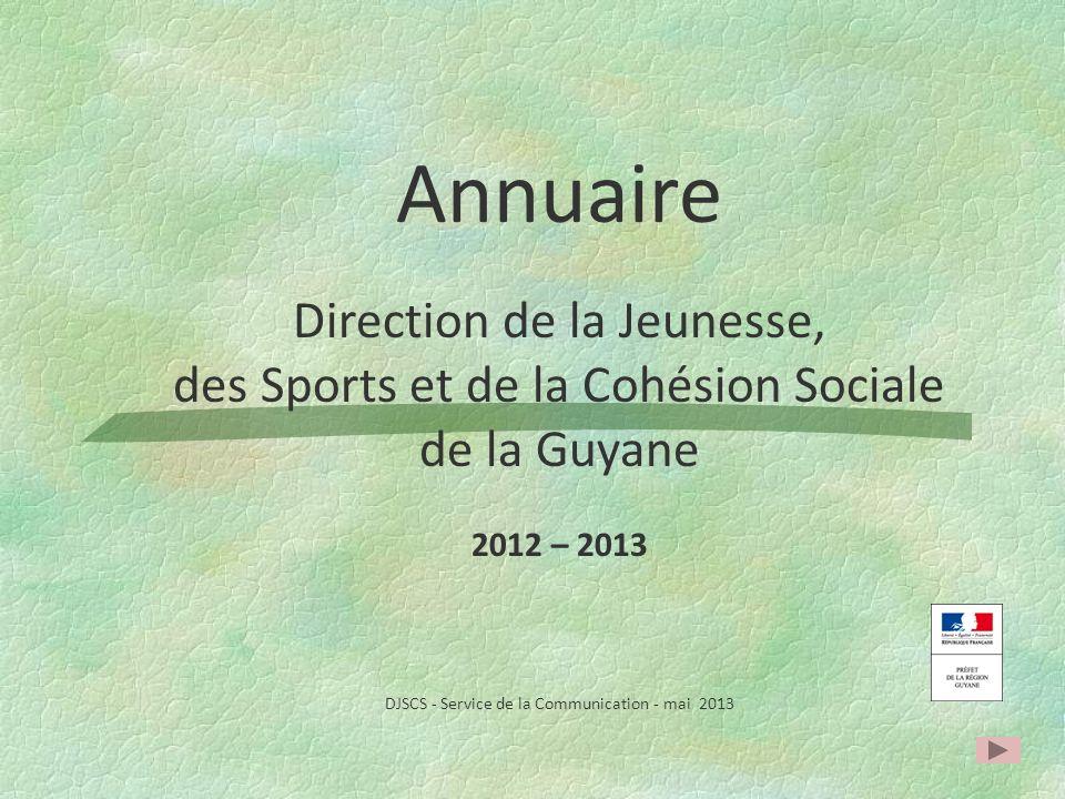 Annuaire Direction de la Jeunesse,