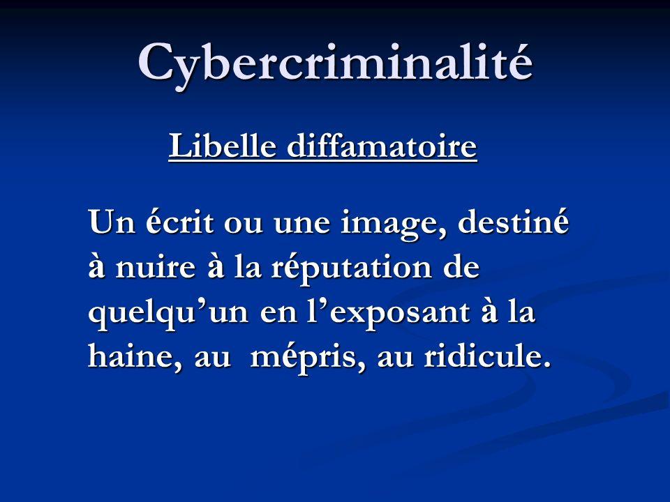 Cybercriminalité Libelle diffamatoire