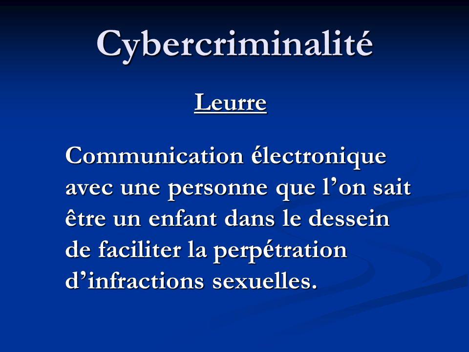 Cybercriminalité Leurre