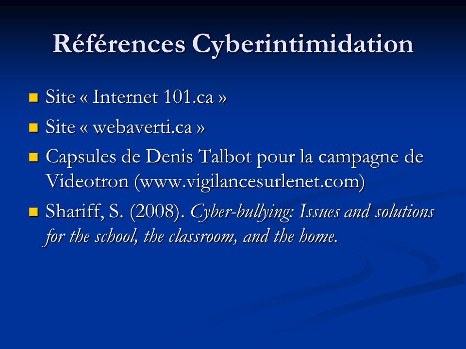 Références Cyberintimidation