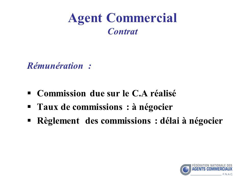 Agent Commercial Contrat