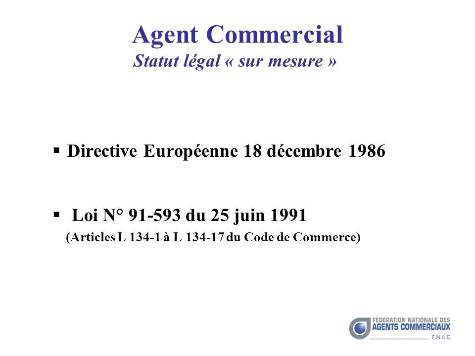 Agent Commercial Statut légal « sur mesure »