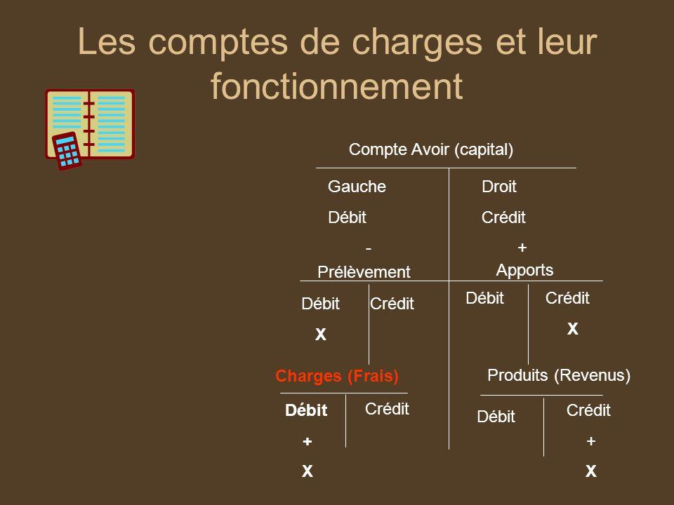 Les comptes de charges et leur fonctionnement