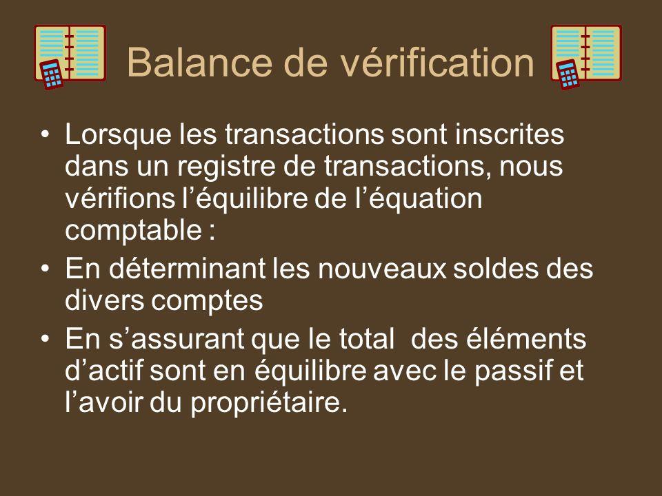 Balance de vérification