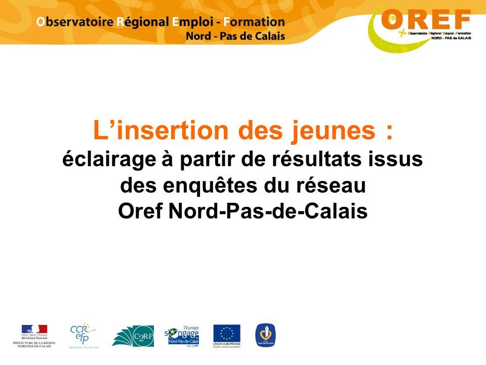 L'insertion des jeunes : éclairage à partir de résultats issus des enquêtes du réseau Oref Nord-Pas-de-Calais