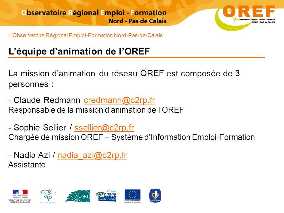 L'équipe d'animation de l'OREF