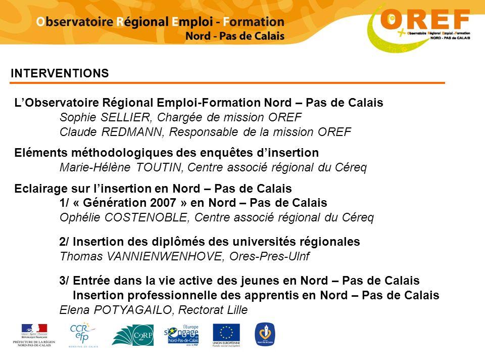 L'Observatoire Régional Emploi-Formation Nord – Pas de Calais