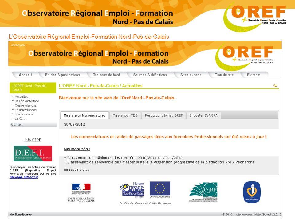 L'Observatoire Régional Emploi-Formation Nord-Pas-de-Calais