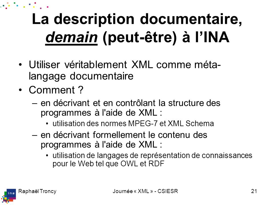 XML : langage extensible de marquage