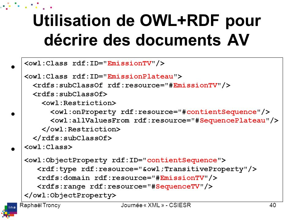 Une description AV full-XML