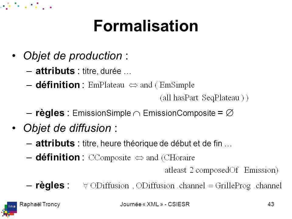 L ontologie de l AV (bilan)