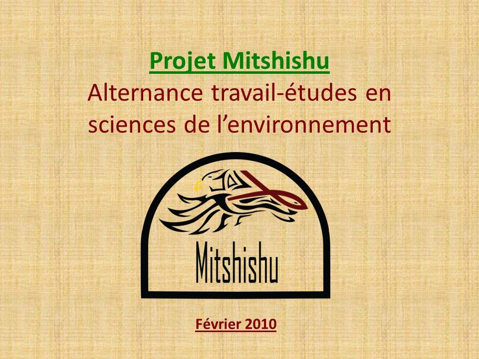 Projet Mitshishu Alternance travail-études en sciences de l'environnement