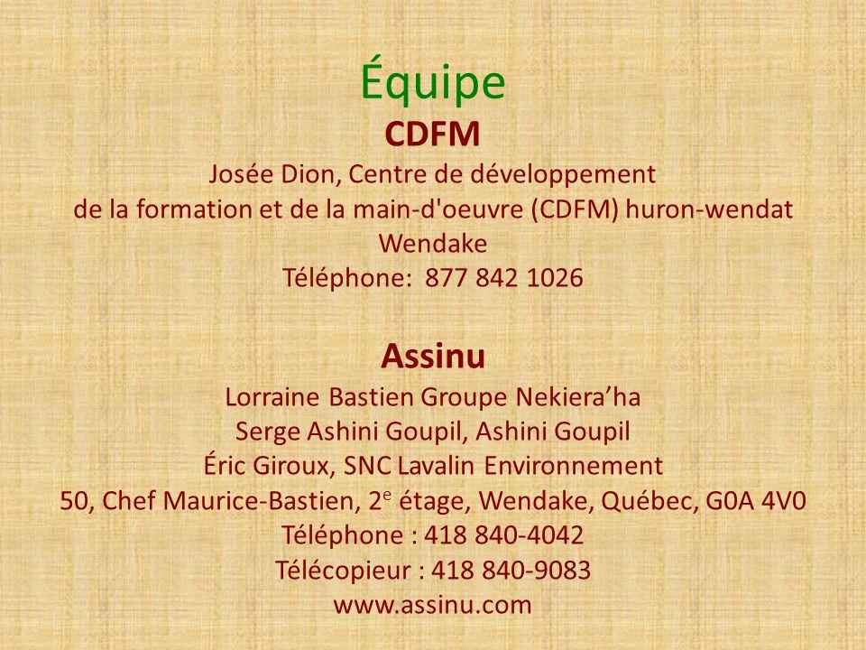 Équipe CDFM Assinu Josée Dion, Centre de développement