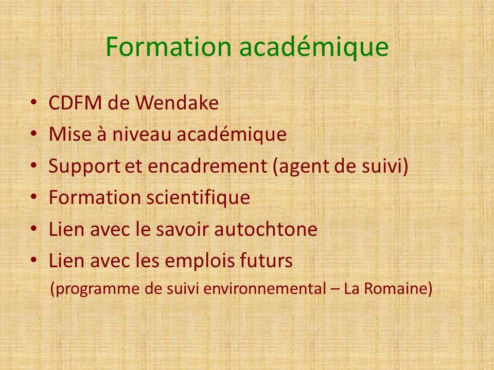 Formation académique CDFM de Wendake Mise à niveau académique