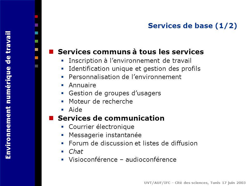 Services communs à tous les services