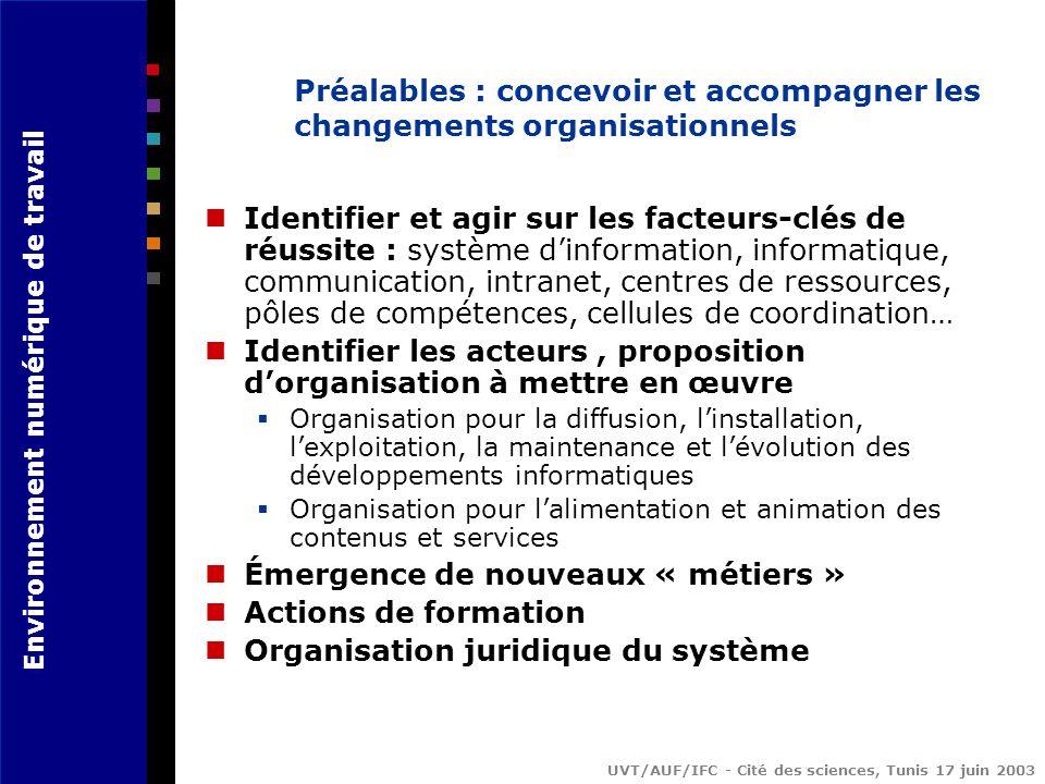 Préalables : concevoir et accompagner les changements organisationnels