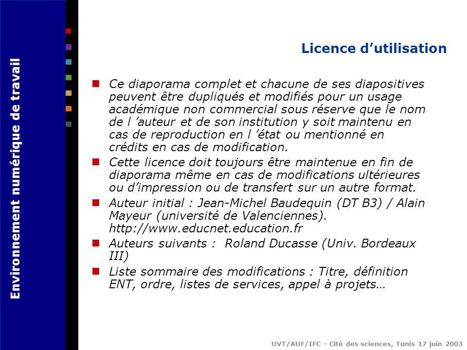 Licence d'utilisation