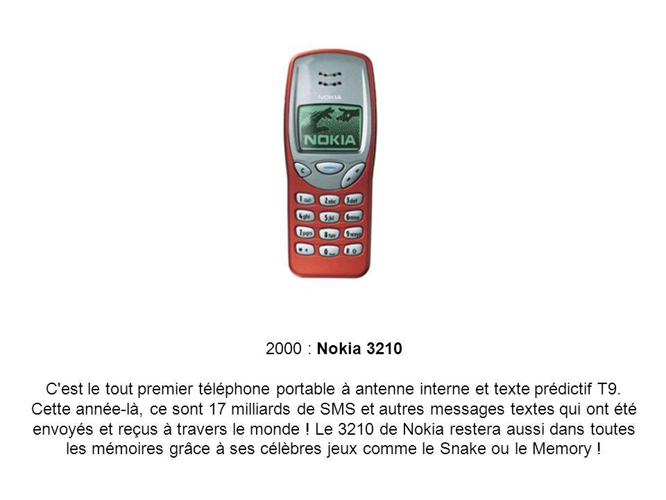 2000 : Nokia 3210