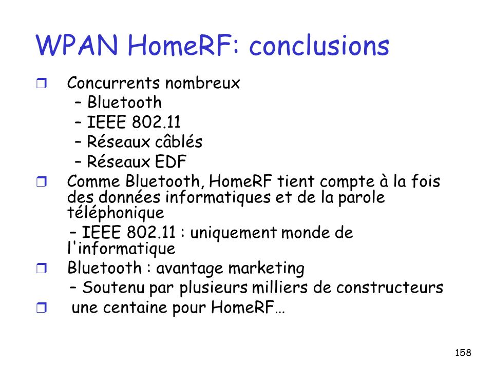 WPAN HomeRF: conclusions