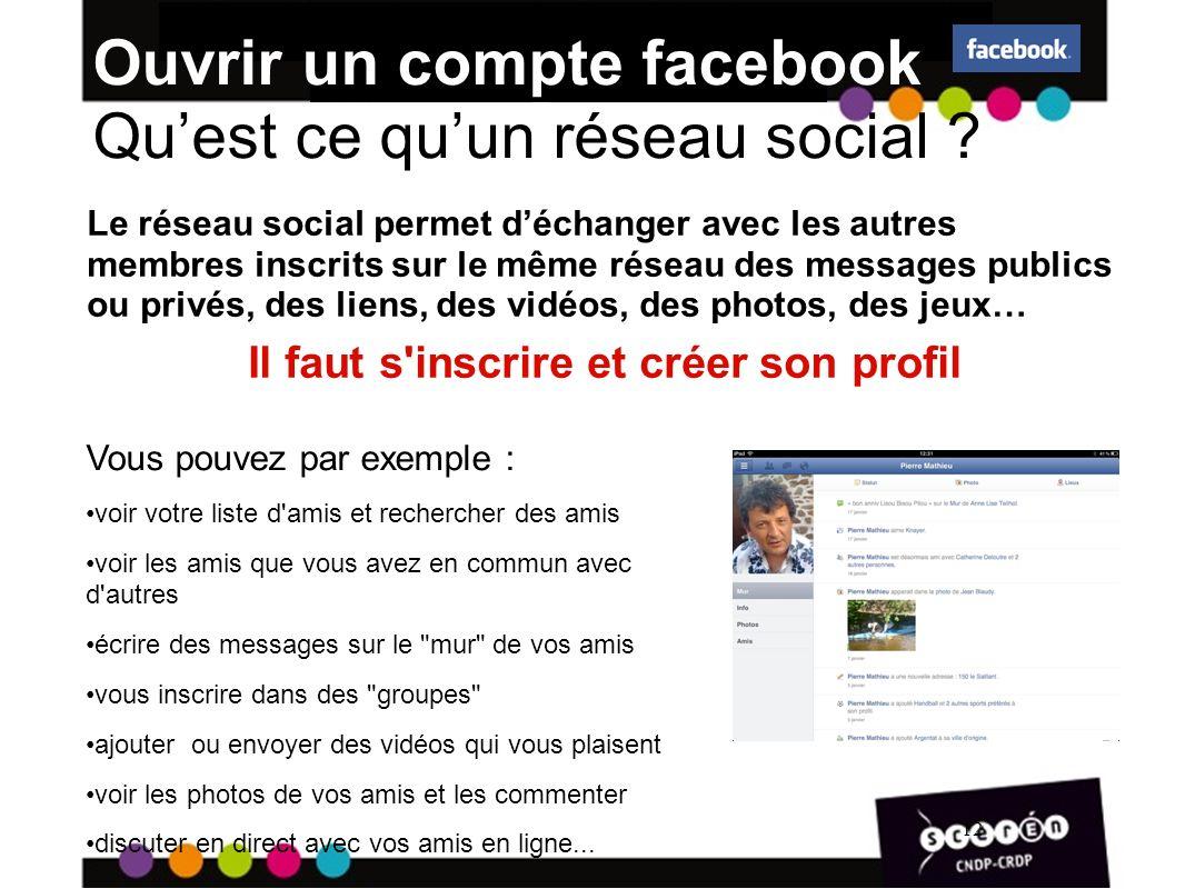Ouvrir un compte facebook Qu'est ce qu'un réseau social