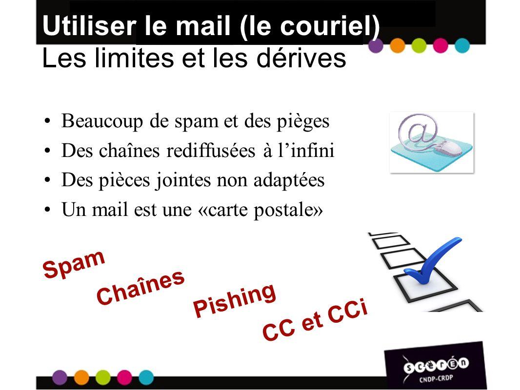 Utiliser le mail (le couriel) Les limites et les dérives