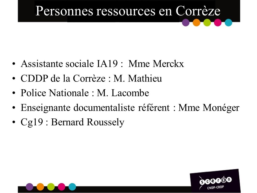 Personnes ressources en Corrèze