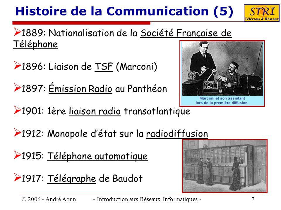 Histoire de la Communication (5)
