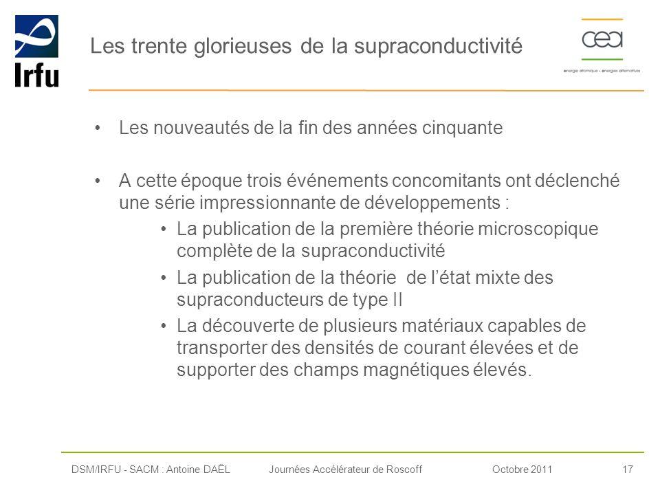 Les trente glorieuses de la supraconductivité