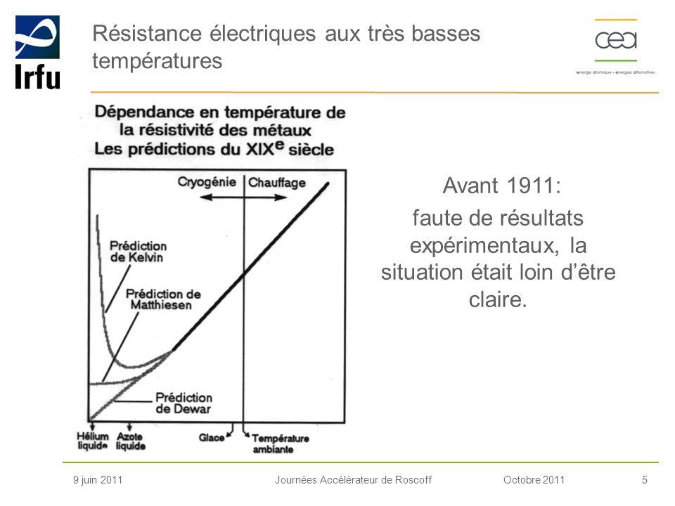 Résistance électriques aux très basses températures