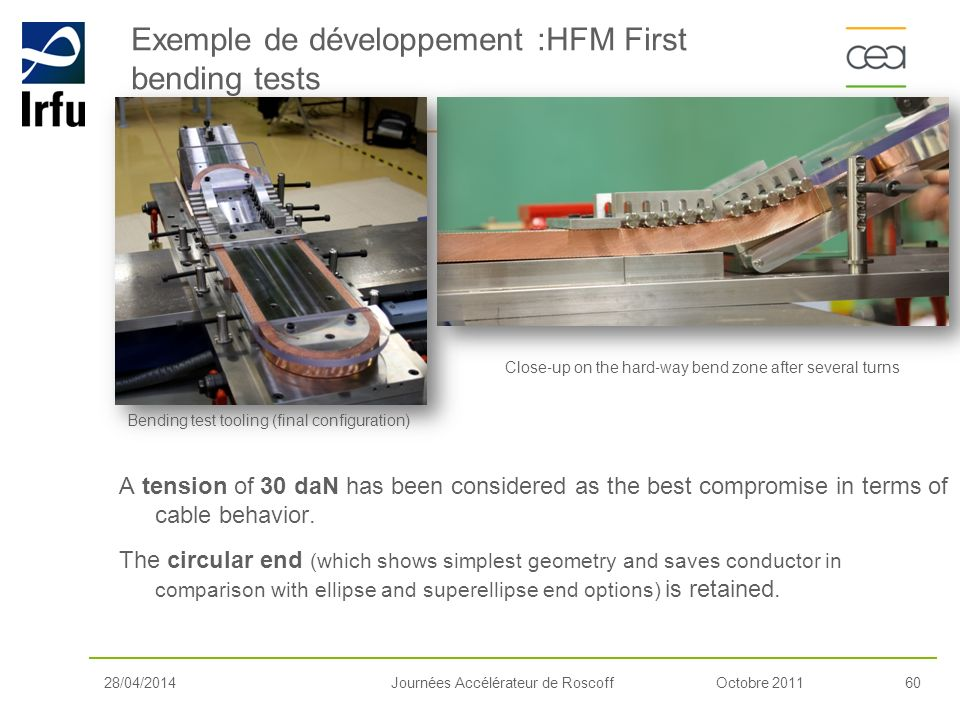 Exemple de développement :HFM First bending tests