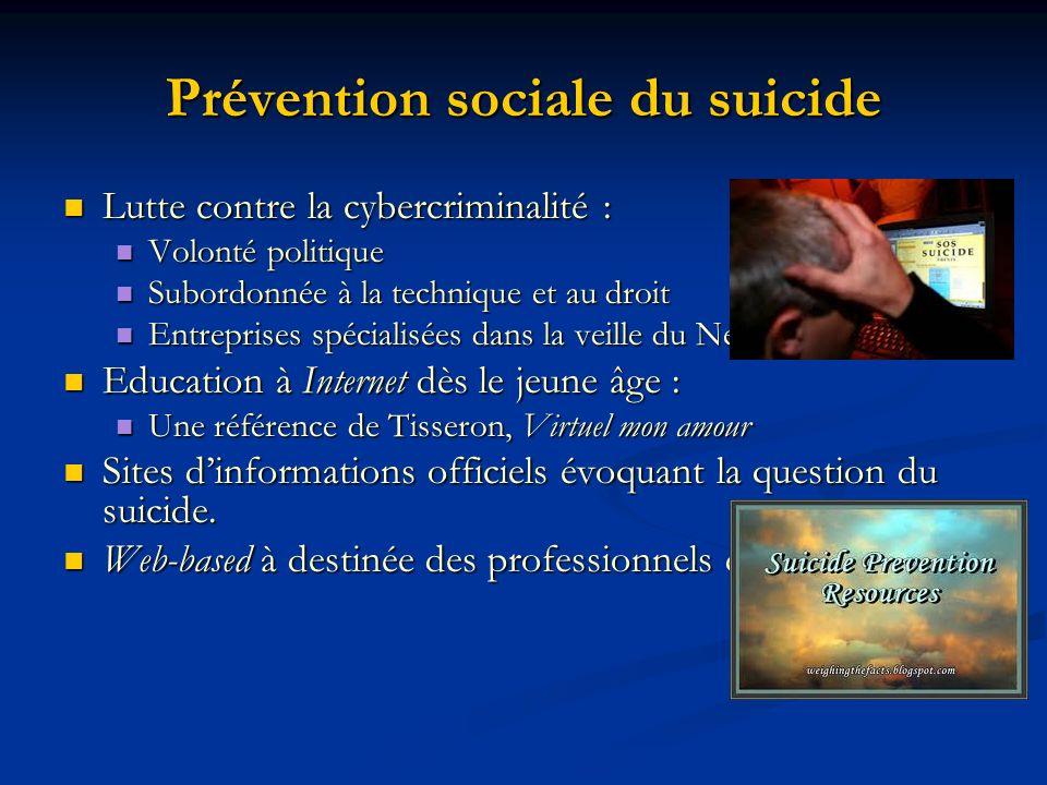 Prévention sociale du suicide