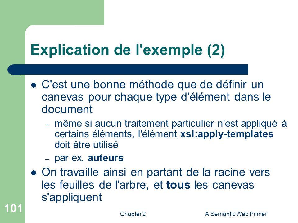 Explication de l exemple (2)