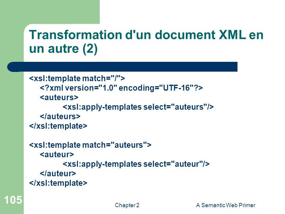 Transformation d un document XML en un autre (2)