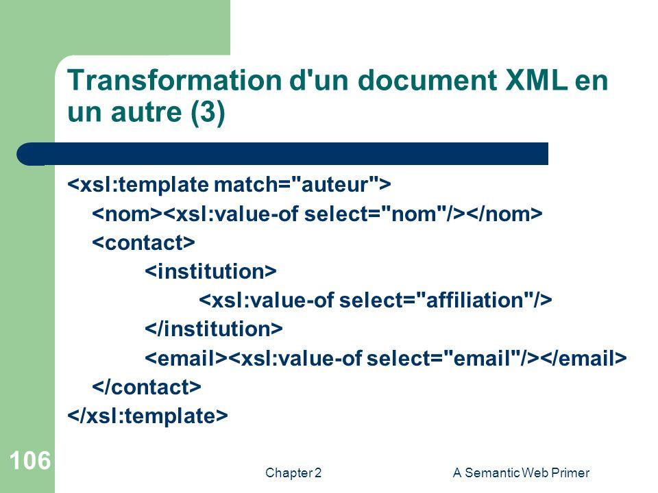 Transformation d un document XML en un autre (3)