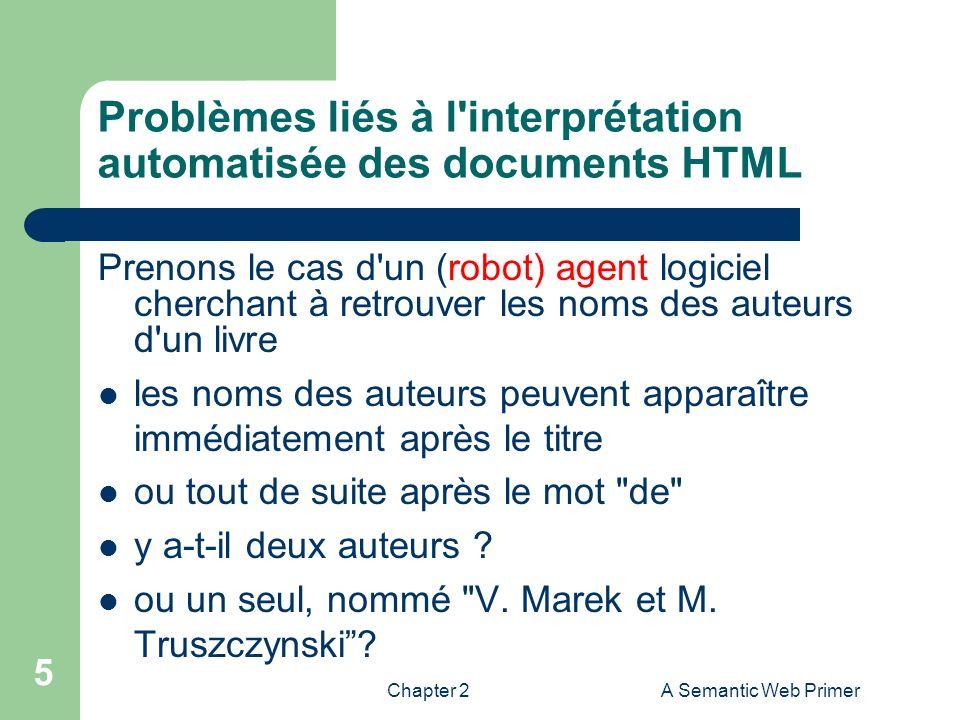 Problèmes liés à l interprétation automatisée des documents HTML